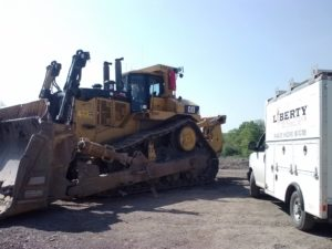 vehicle fire suppression system installation on construction equipment